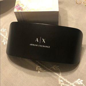 Armani exchange eyeglasses/ shades case.